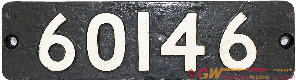 Smokebox Numberplate 60146 Ex LNER Peppercorn a1
