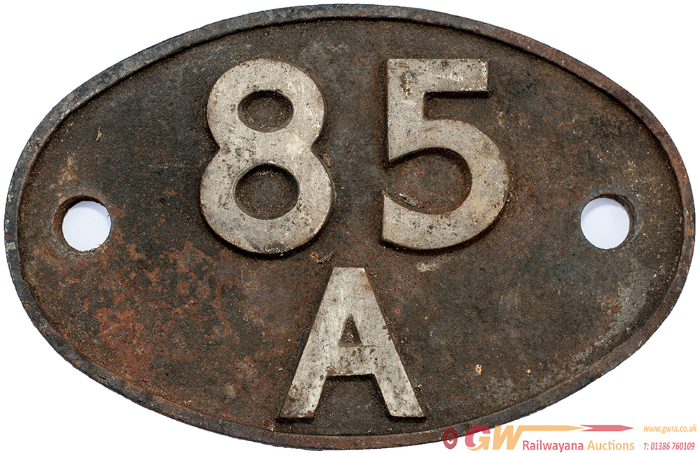 Shedplate 85a, Worcester 1950-1973 With Sub Sheds