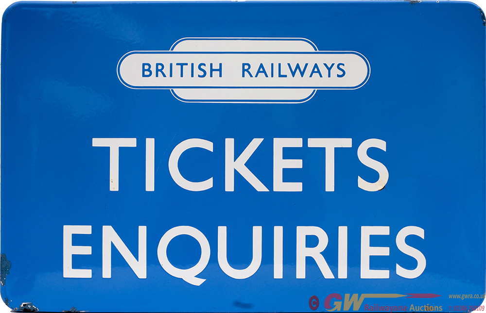 BR(Sc) Enamel FF Sign TICKET ENQUIRIES With