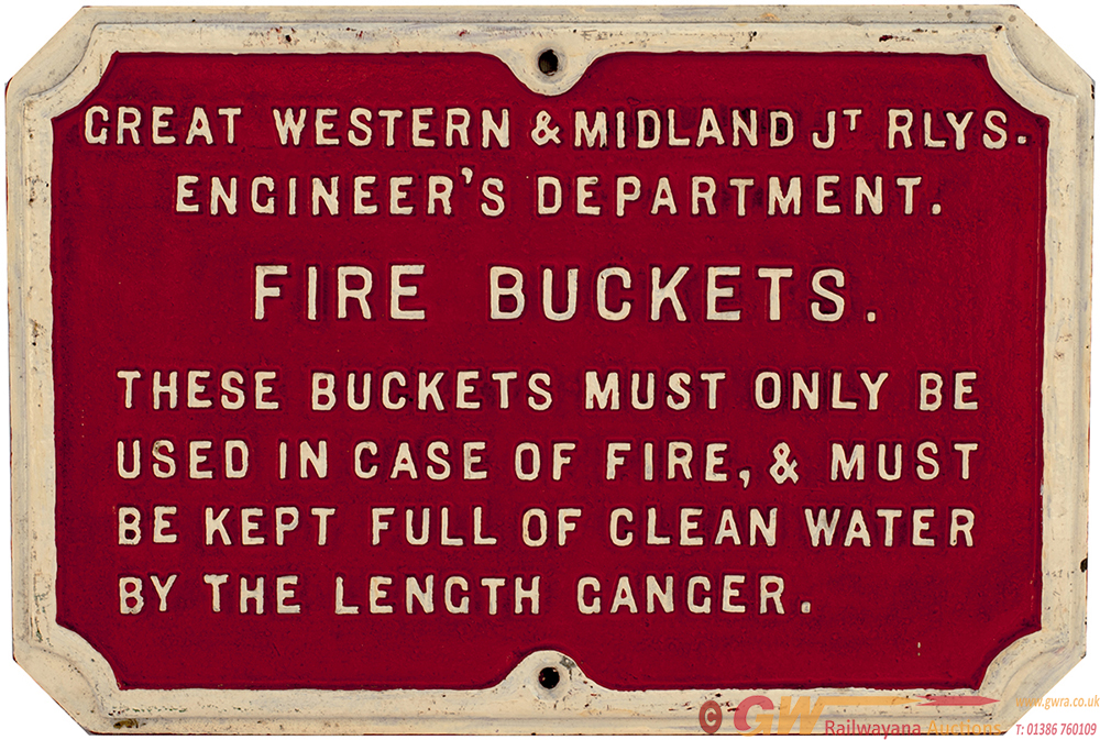 GWR & Midland Joint Railways Cast Iron FIRE