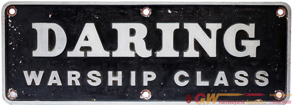 Nameplate DARING Ex BR Class 42 Warship Class No