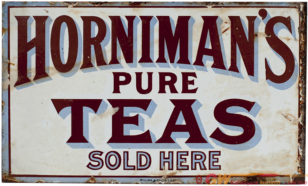 Advertising Enamel Sign, Double Sided With Wall