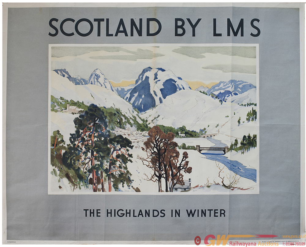 Poster LMS SCOTLAND BY LMS THE HIGHLANDS IN WINTER