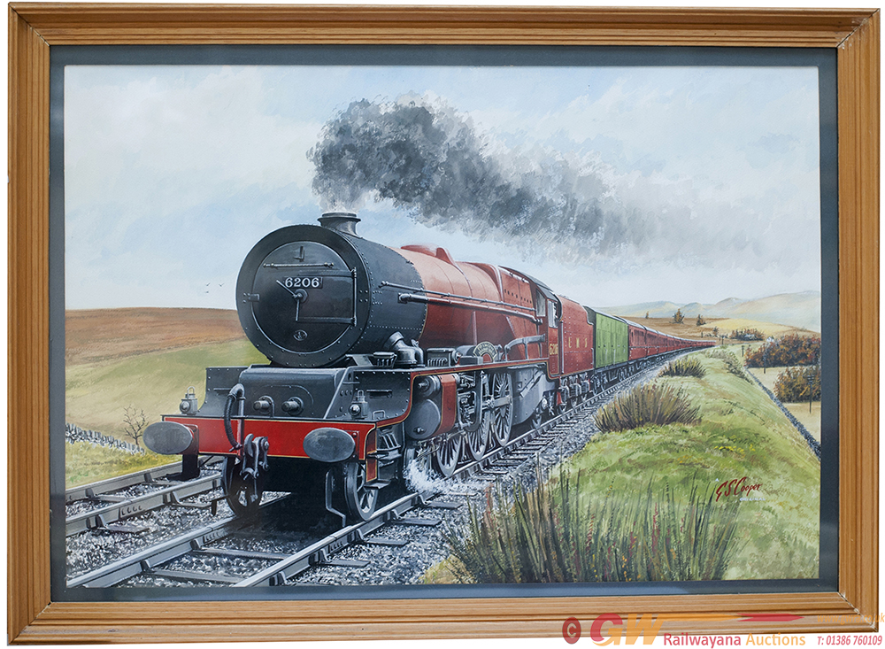 Original Water Colour Painting Of LMS 6206