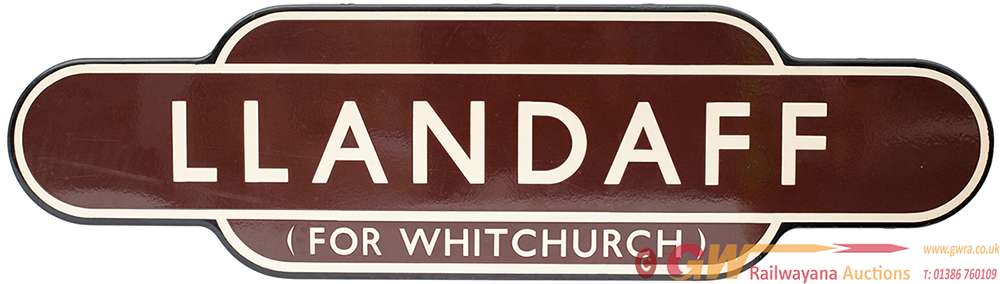 Totem BR(W) FF LLANDAFF FOR WHITCHURCH From The