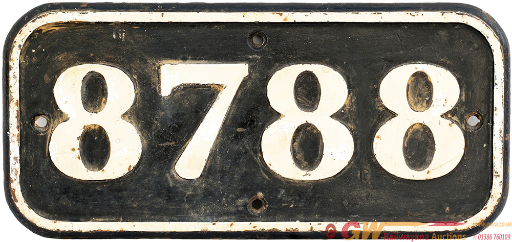GWR Cast Iron Cabside 8788 Ex GWR COLLETT 0-6-0 PT