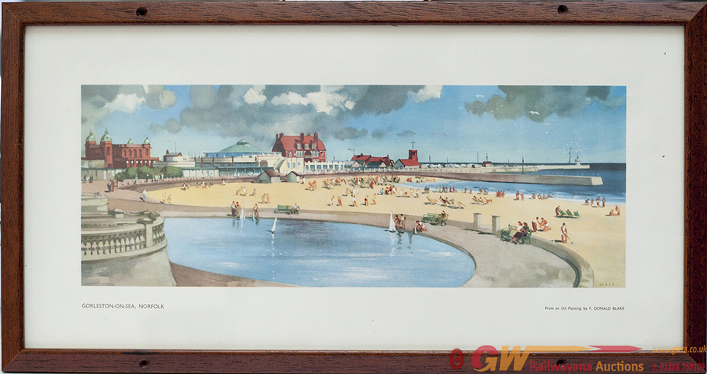 Carriage Print GORLESTON-ON-SEA, NORFOLK By F