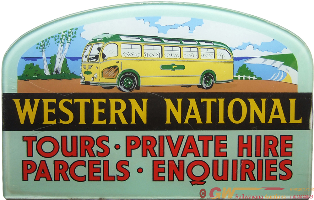 Bus Advertising Sign WESTERN NATIONAL TOURS
