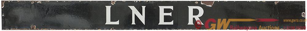 LNER Quad Royal Enamel Poster Board Heading, White