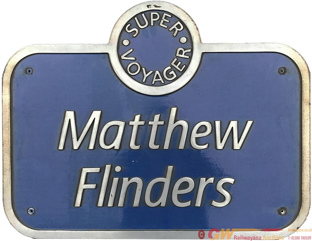 Nameplate MATTHEW FLINDERS Ex Virgin Super Voyager