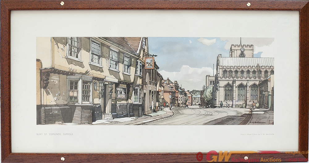 Carriage Print BURY ST EDMUNDS, SUFFOLK By Fred W