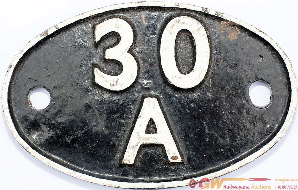 Shedplate 30a STRATFORD 1950 - 1973 With Sub-Sheds