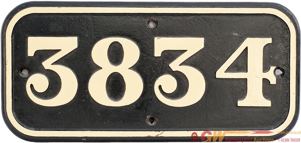 GWR Cast Iron Cabside 3834 Ex GWR CHURCHWARD 2-8-0