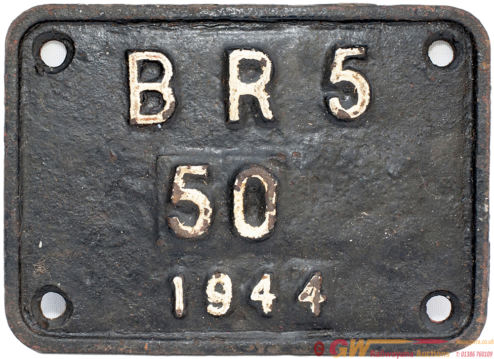 BR Cast Iron Tenderplate br5 50 1944 Ex WD