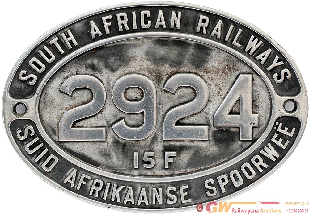 SAR Cast Aluminium Cabside SOUTH AFRICAN RAILWAYS