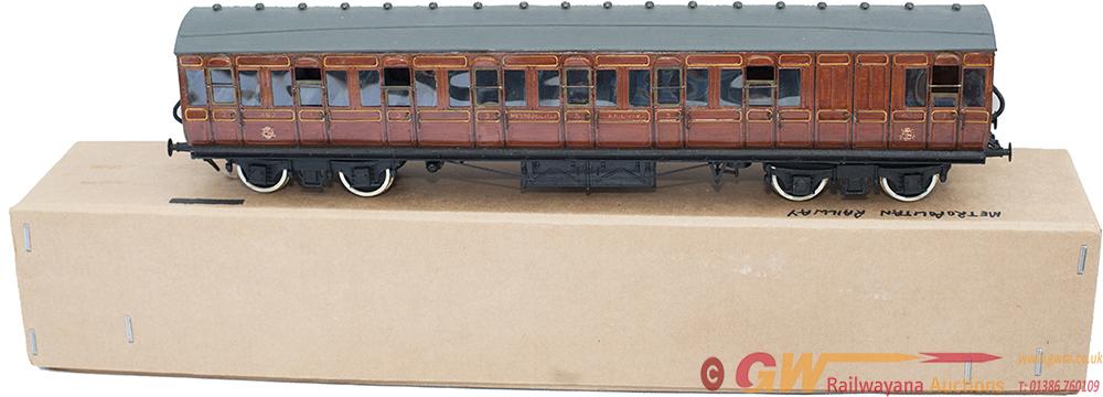 O Gauge Finescale Coach Metropolitan Railway