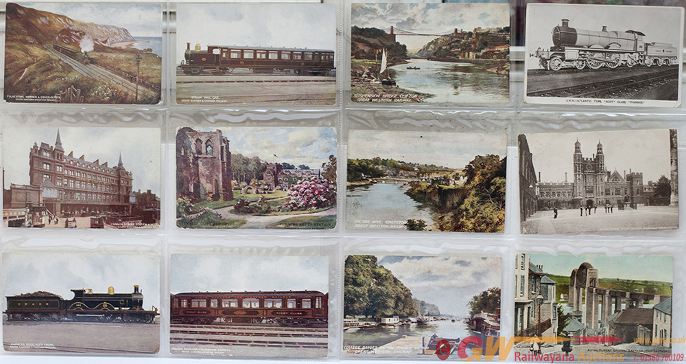 A Collection Of 236 Railway Postcards Displayed In