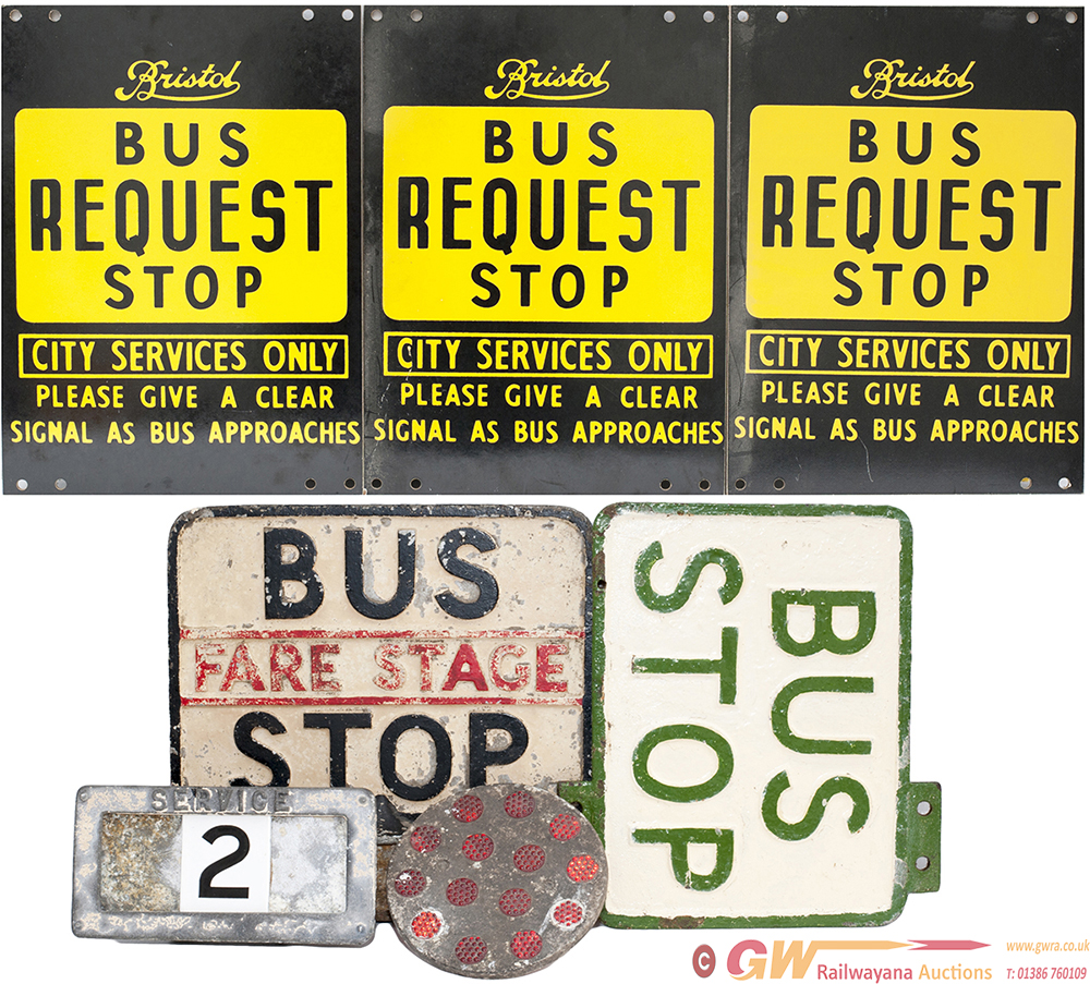 A Selection Of 6 Bus Signs From The Bristol Area: