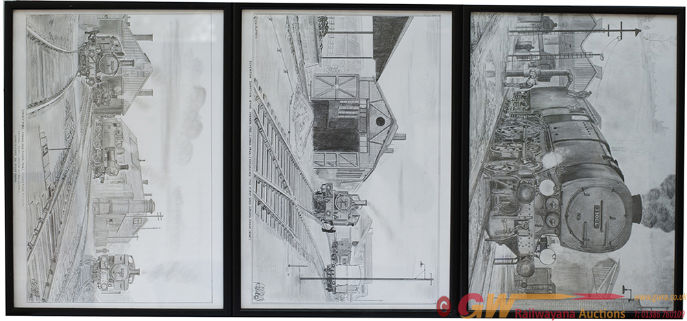 Framed And Glazed Pencil Drawings By R.E. RUFFEL