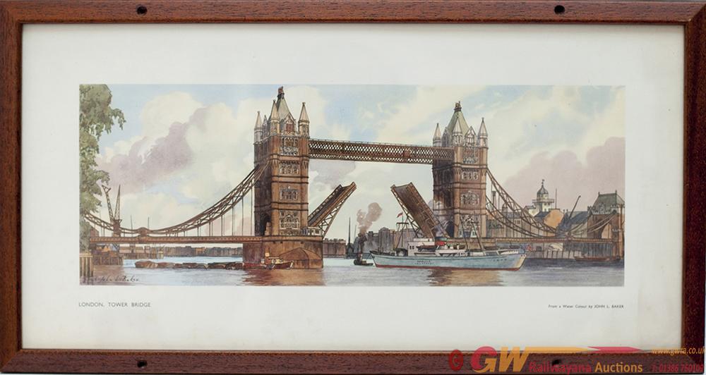 Carriage Print LONDON TOWER BRIDGE By John L Baker