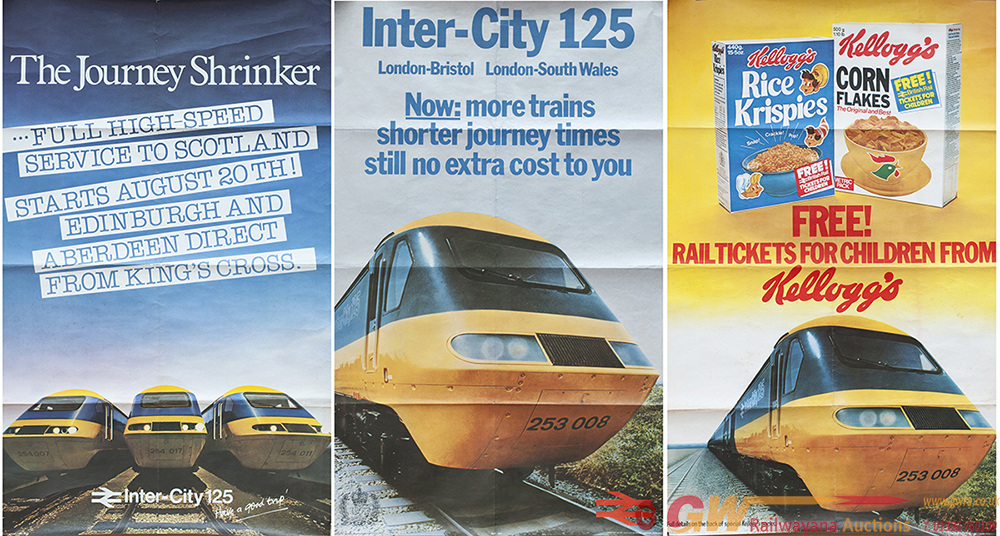 Posters  BR x3. All Are Images Of Intercity 125's