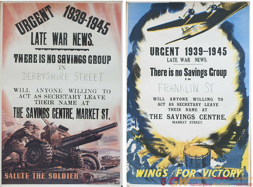 Posters, A Pair Of ww2: WINGS FOR VICTORY And