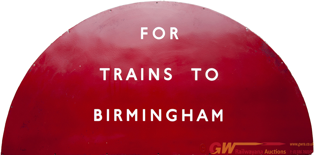 BR(M) Enamel Semi Circular Sign FOR TRAINS TO