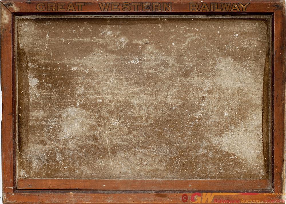 GWR Wooden Notice Display Board Ex Bampton