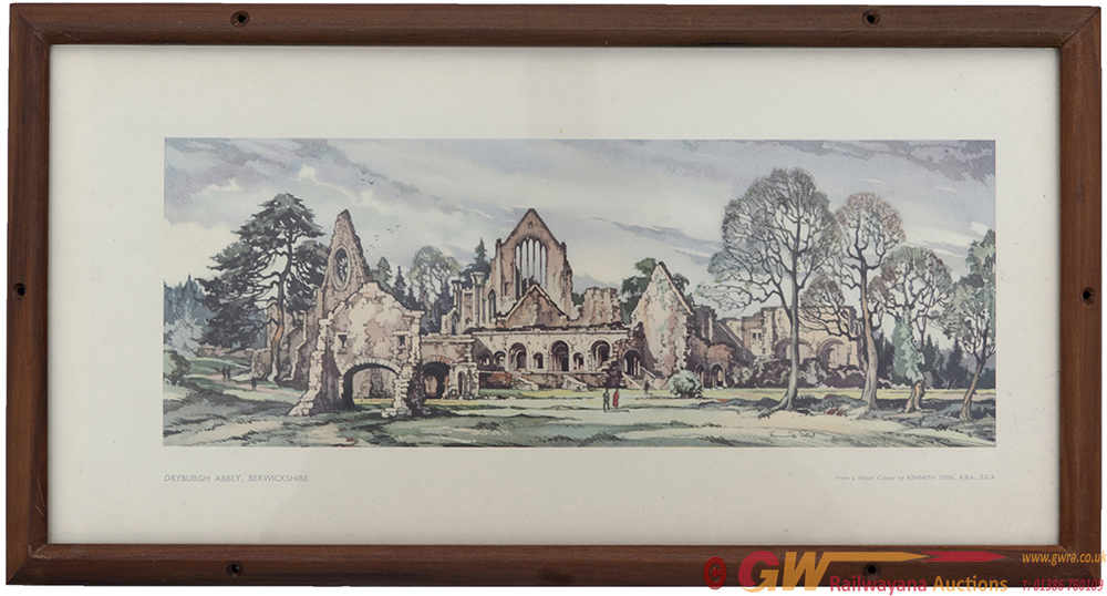 Carriage Print DRYBURGH ABBEY BERWICKSHIRE By