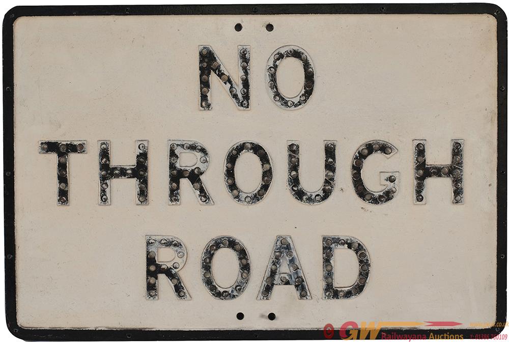 Road Sign Cast Aluminium NO THROUGH ROAD, Gowshall