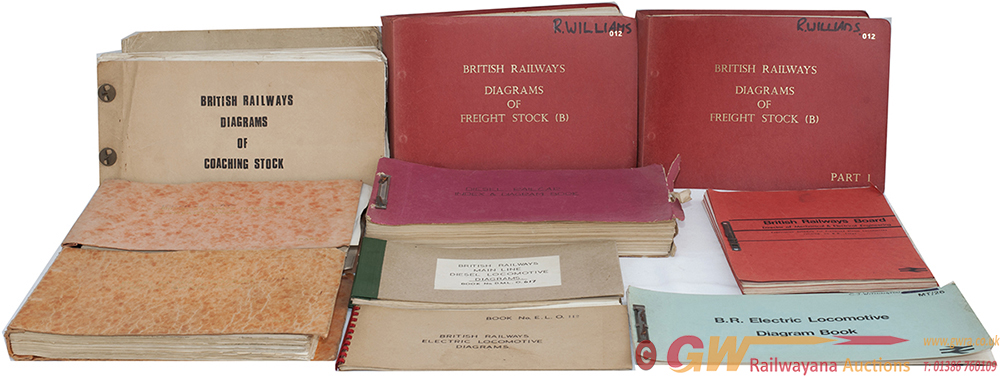British Railways Official Diagram Books Consisting