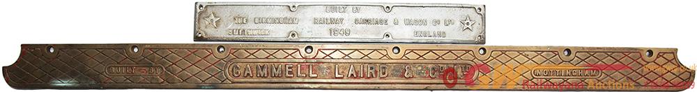 LT Cast Bronze Makers Plate BUILT BY CAMMELL LAIRD
