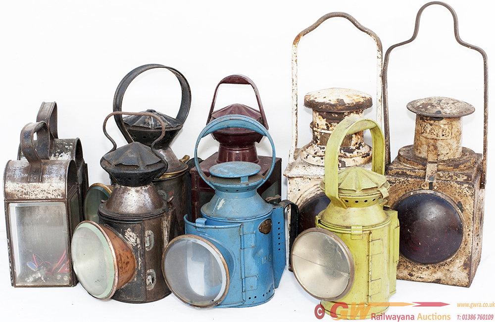 A Selection Of 9 Railway Lamps To Include: BR(E)