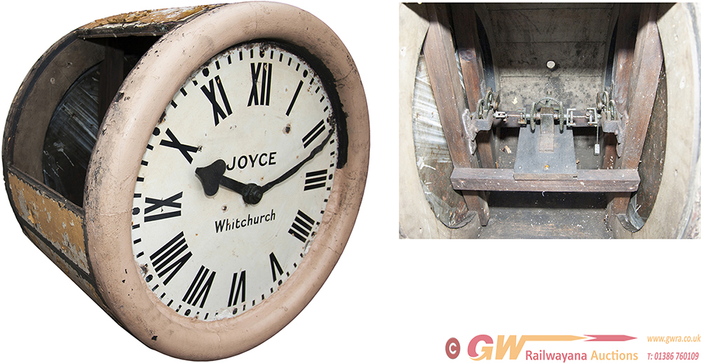 LNWR Double Sided Platform Slave Clock With