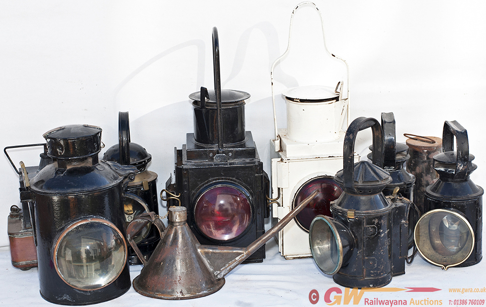 A Selection Of Railway Lamps X 8 To Include BR SR