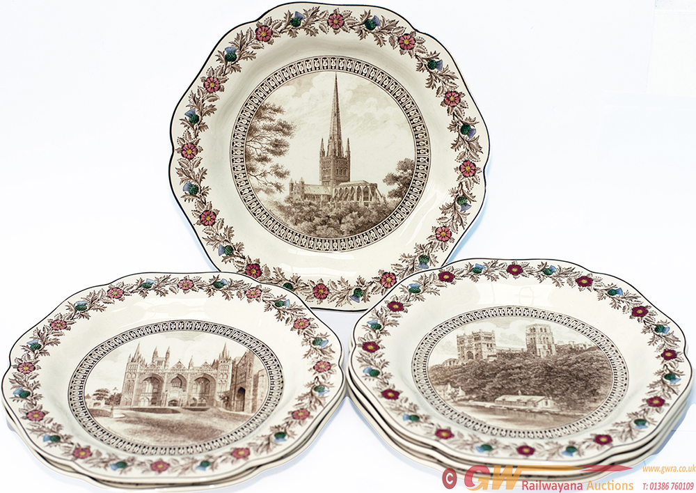 LNER China Cathedral Plates x6 Consisting Of: x3