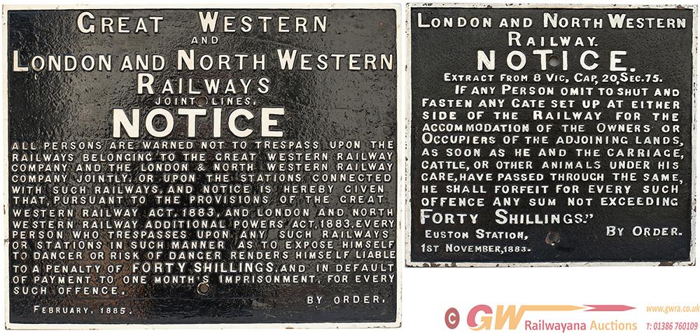GWR & LNWR Joint Railway Cast Iron LNWR Pattern