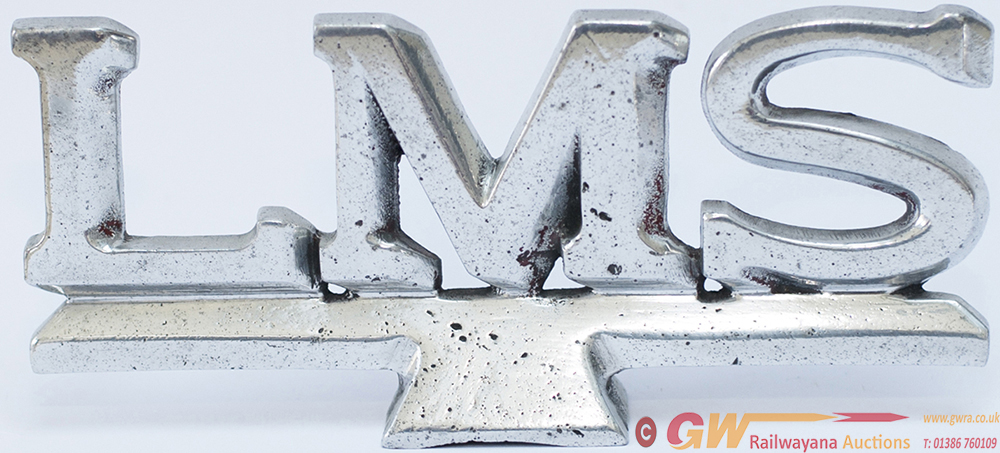 LMS Cast And Polished Aluminium Sign LMS As Fitted