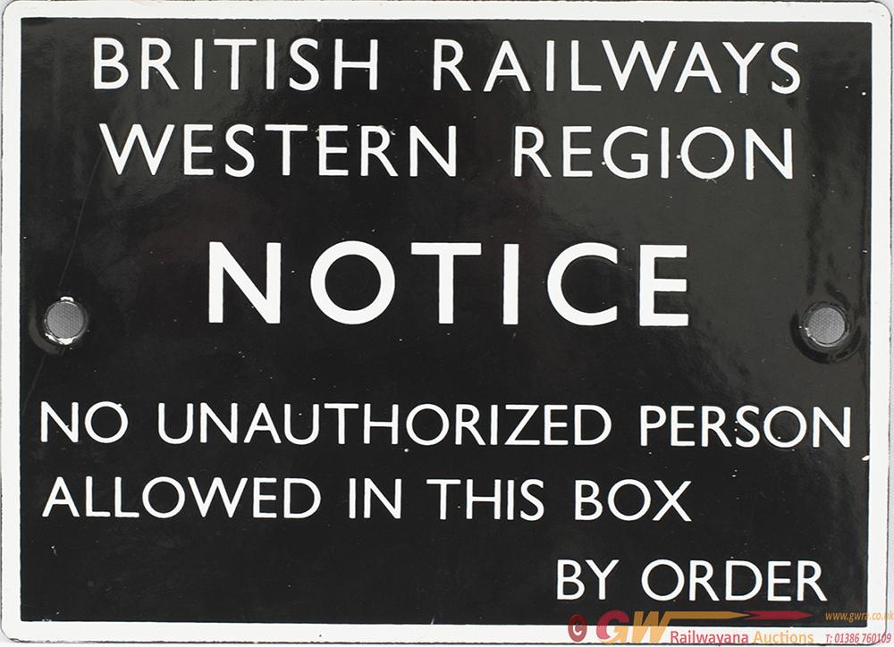 BR(W) Enamel British Railways Western Region