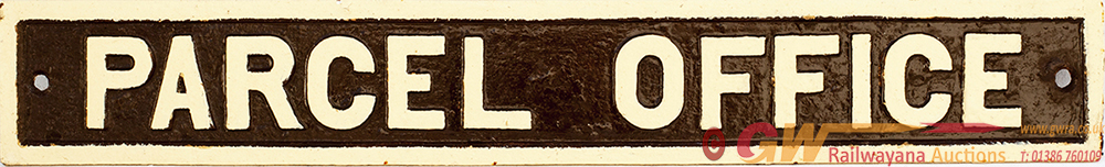 GWR Post Grouping Cast Iron Doorplate PARCEL