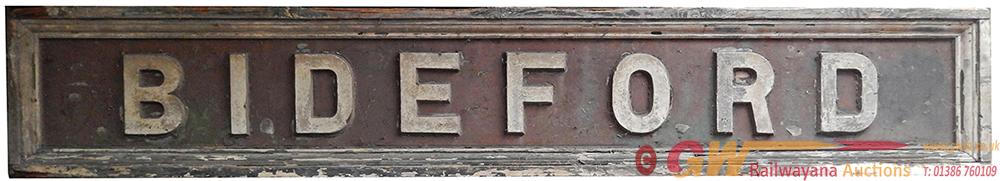 LSWR Signal Box Board BIDEFORD In Original