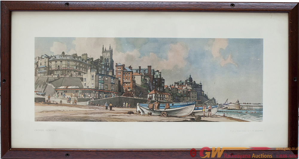 Carriage Print CROMER, NORFOLK By FW Baldwin From