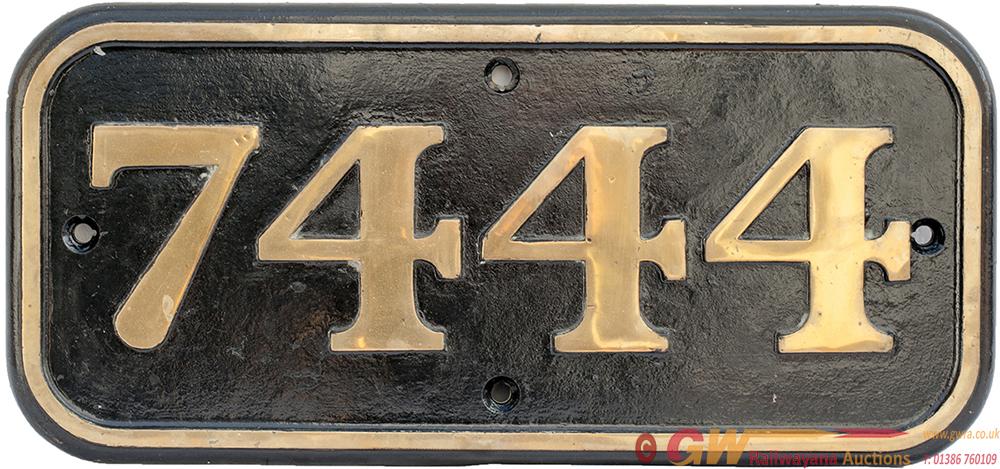 BR(W) Brass Cabside 7444 Ex GWR COLLETT 0-6-0 PT