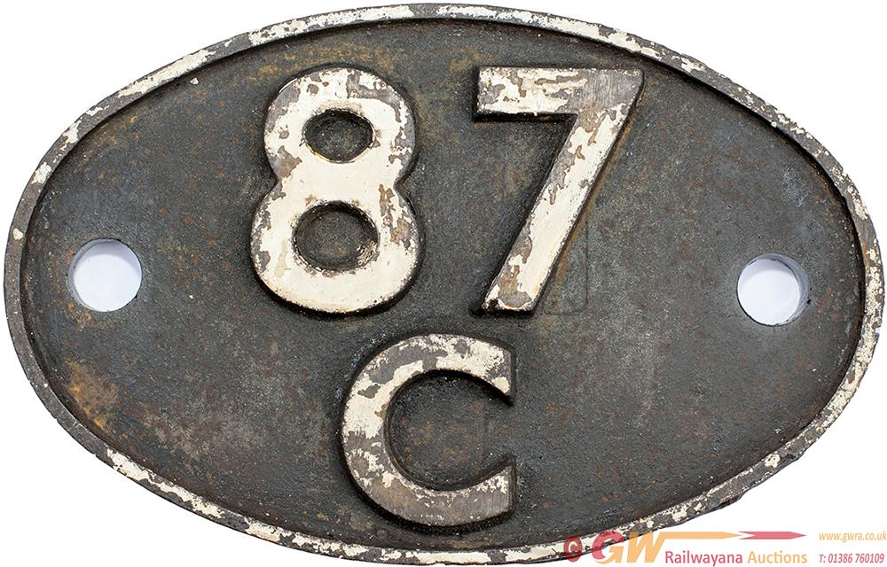 Shedplate 87c SWANSEA DANYGRAIG 1950-1964, In Ex