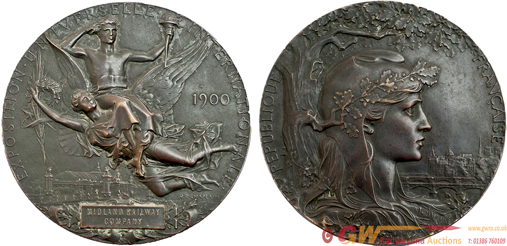 Midland Railway Bronze Circular Medallion Dated