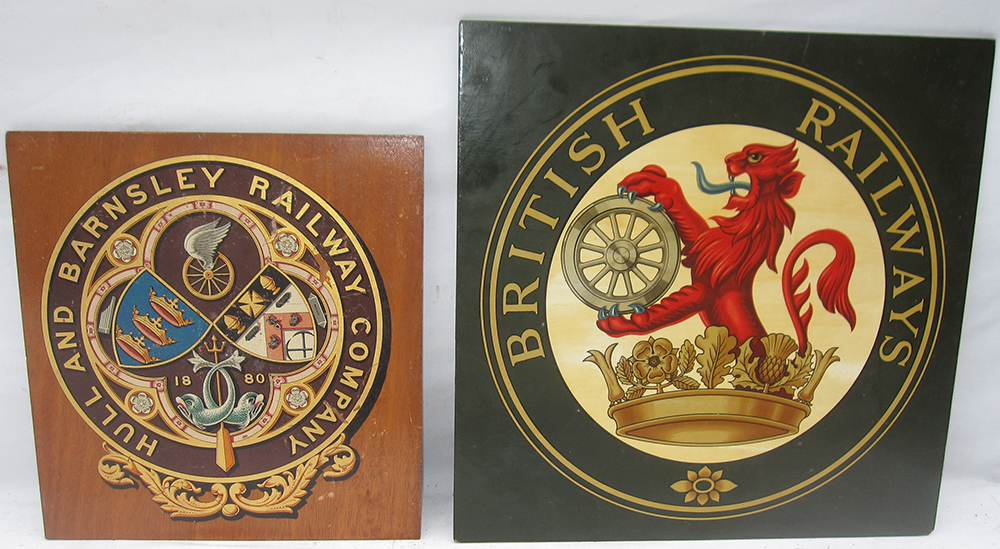 2 Railway Mounted COATS Of ARMS. BRITISH RAILWAYS
