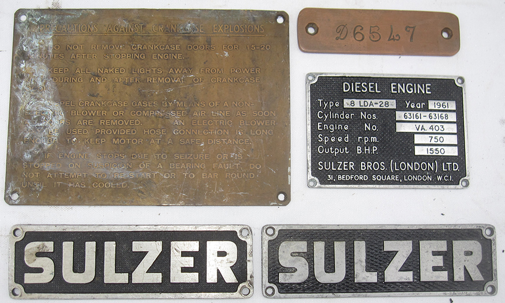 A Collection Of Class 33 Engine Plates Including