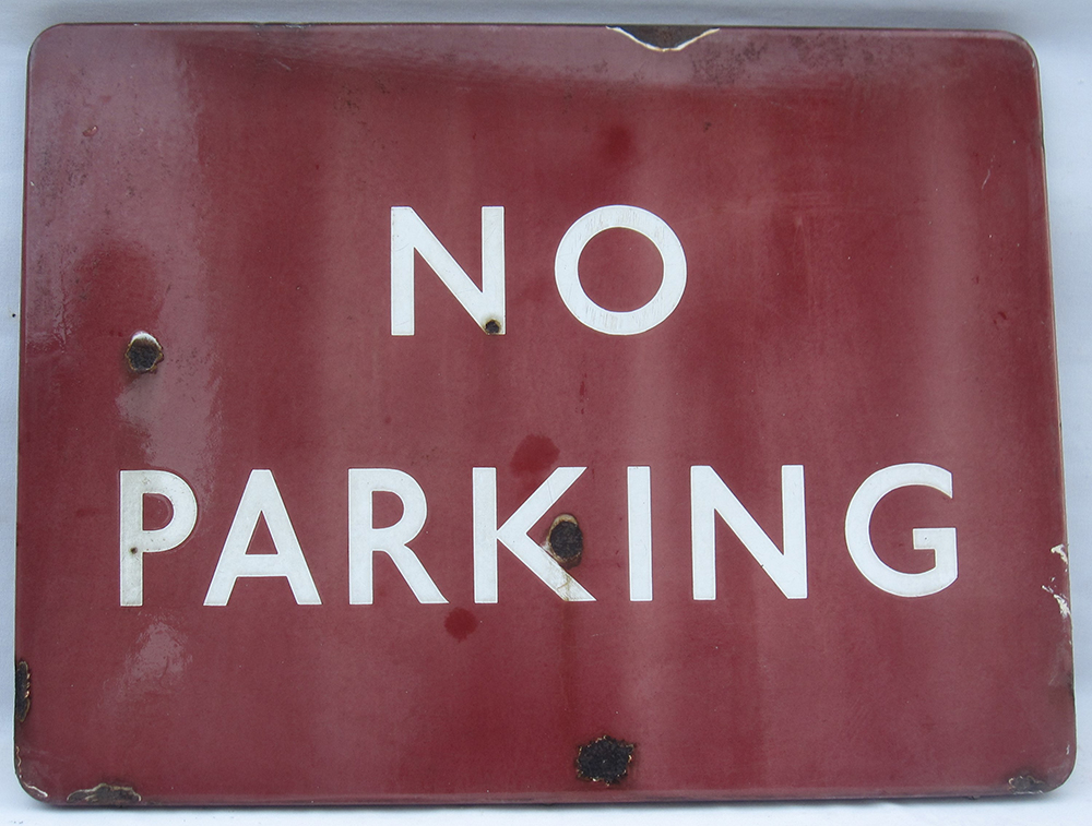 BR(M) Full Flanged Sign. No Parking. 24 In X 18