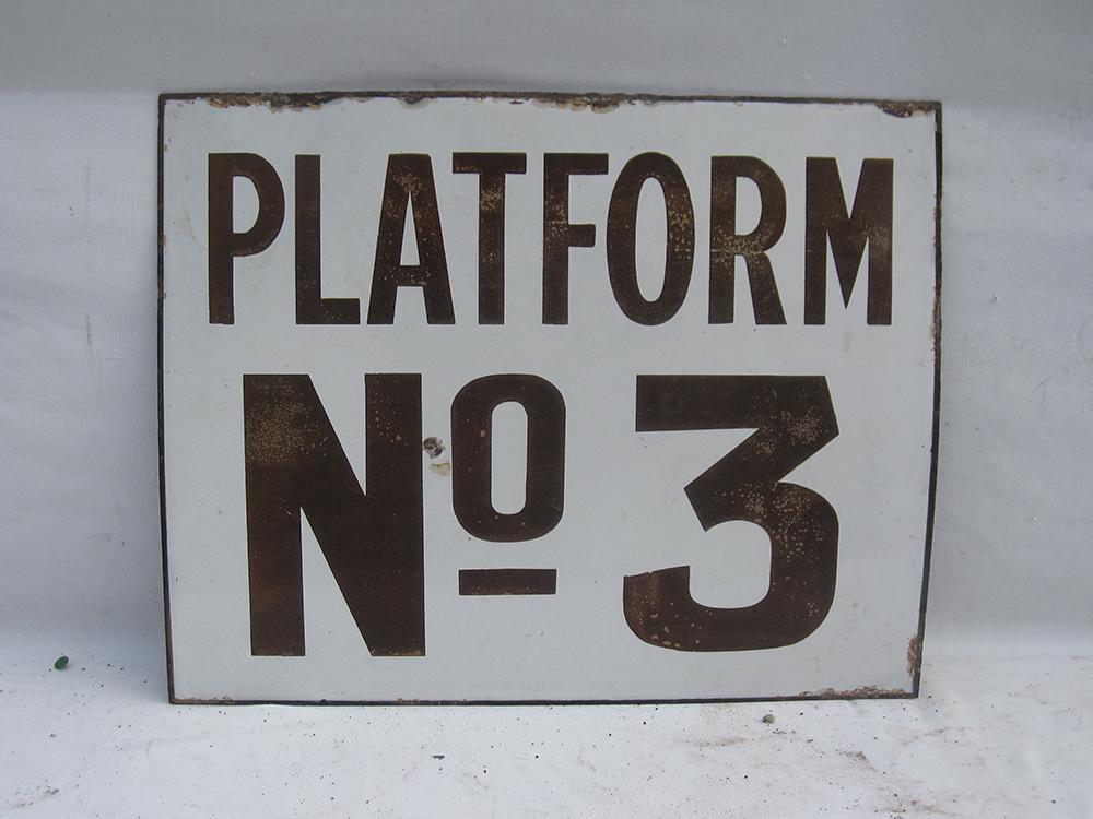 Early Underground Enamel Platform Sign. Platform