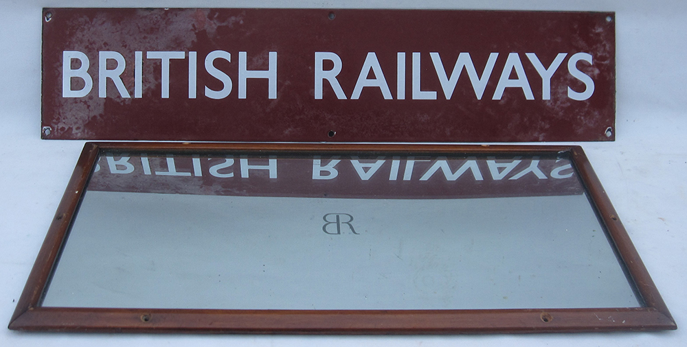 BRM Enamel POSTER BOARD HEADING With A BR Carriage